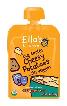 Ellas Kitchen Organic Stage 2 Cheesy Potatoes with Veggies 45 Ounce Pack of 6 >>> Find out more about the great product at the image link.