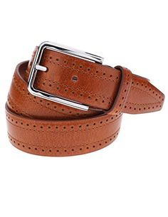 FLATASEVEN Mens Perforated Casual Leather Belt with Single Buckle (Y406), LightBrown FLATSEVEN http://www.amazon.com/dp/B00OHSK8X0/ref=cm_sw_r_pi_dp_SZf2ub1BVMY02 #FLATSEVEN #men #Fashion #Casual #Leather belt #Belt