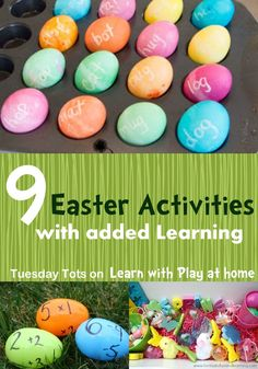 Learn with Play at home: 9 Easter Activities for Kids with added Learning