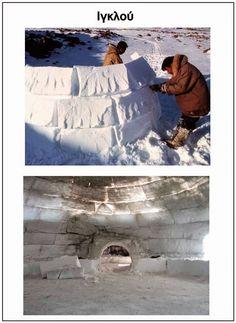 S o f i a' s K i n d e r g a r t e n: ΠΟΛΙΚΑ ΖΩΑ - ΕΠΟΠΤΙΚΟ ΥΛΙΚΟ -ΔΡΑΣΤΗΡΙΟΤΗΤΕΣ Eskimo, Eyfs, Continents, Preschool Activities, Alaska, Northern Lights, Around The Worlds, Tapestry, Snow