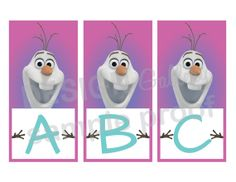 Disney's Frozen Happy Birthday Banner Personalized, complete alphabet and numbers - DIY Printable Instant Download