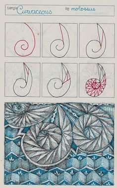 Curvaceous-Tangle Pattern by molossus, who says Life Imitates Doodles, via Flickr