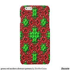 green red modern abstract pattern glossy iPhone 6 case