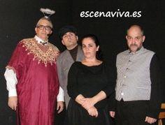 Cuatro actores, cinco personajes, en la #cena de misterio Escenaviva