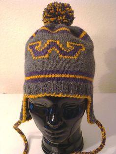 SOLD - University of Washington ear flap hat