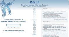biblioteca musica clasica IMSLP, librería gratuita con miles de grabaciones, obras y partituras de música clásica