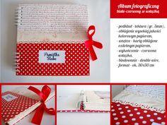 album ślubny biało czerwony