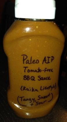 This BBQ sauces is paleo, AIP, nightshade-free, gluten-free, dairy-free, refined-sugar-free, corn-free, soy-free, nut-free, peanut-free, fish-free, shellfish-free, and egg-free. It is a slight adaptation of the recipe found at http://kaikulifestyle.blogspot.com/2014/04/barbeque-sauce.html. All the credit goes to Sirpa Kaajakari. All the modifications I made were simply to increase the yield (volume) of the sauce and to accommodate what I had in my kitchen and my la...