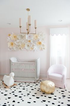 Project Nursery - Pink and Gold Swan-Inspired Nursery