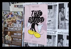 """Poster for the exhibition """"The Blob"""" #exhibition #Berlin #Blob #MickeyMouse"""