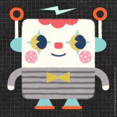 clown robot   flora chang, Happy Doodle Land