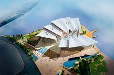 Wuxin oopperatalo Kiinassa - suomalaisarkkitehtien high tech tyyliin