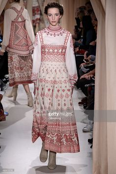 A model walks the runway at the Valentino Spring Summer 2015 fashion show during Paris Haute Couture Fashion Week on January 28, 2015 in Paris, France.