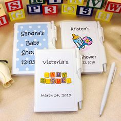 Personalized Baby Shower NoteBook Favors PER_6700_BABY-WP.  *** $0.99 each.  Minimum 24 count.