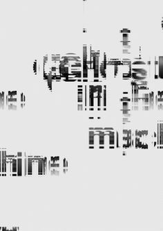 Glitch Typography - Glitch Typography by Craig Ward. I think that this is a really interesting concept. Craig Ward has - Glitch Art, Graphic Design Posters, Graphic Design Typography, Photomontage, Maman A Tort, Craig Ward, Experimental Type, Tecno, Design Graphique