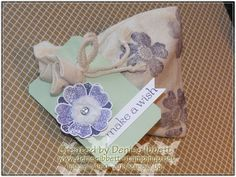 Flower Shop Mini Muslin Bags , Stampin' Up! www.deniseibbett.stampinup.net