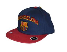 44a49026bd8 Details about FC Barcelona Snapback Adjustable Hat Kids Toddler Youth Boys  By Rhinox