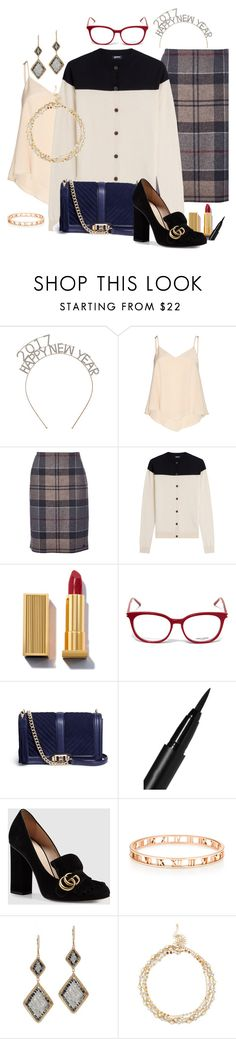 """""""STFU & Kiss Me"""" by chelsofly on Polyvore featuring Alice + Olivia, Barbour, Jil Sander Navy, Yves Saint Laurent, Rebecca Minkoff, NARS Cosmetics, Gucci, Dana Kellin and Sole Society"""
