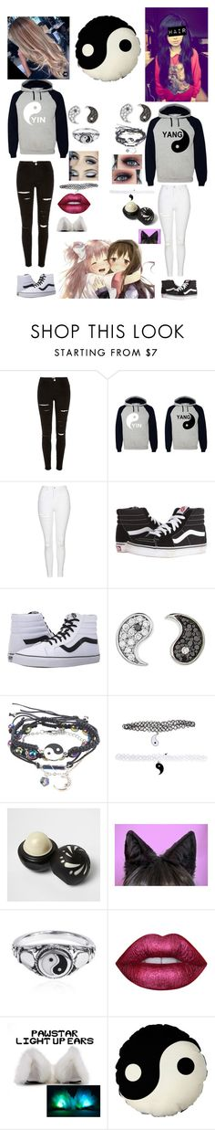 """Different People"" by masteremo9099 on Polyvore featuring Topshop, Vans, Sydney Evan, River Island, AeraVida and Lime Crime"
