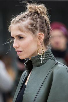 idées de coiffures casual, cheveux attachés, tendance, printemps