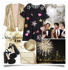 """""""NYE Dance Party"""" by alaria ❤ liked on Polyvore featuring H&M, River Island, women's clothing, women's fashion, women, female, woman, misses, juniors and danceparty"""
