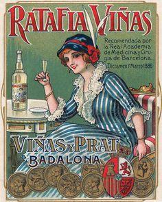 Ratafia Viñas, un clàssic!  http://barcelonaephemera.com/images/begudes/licors/Ratafia-Vinas.jpg