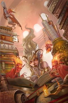 City of Brass Library - Pathfinder Chronicles by *Carolina-Eade on deviantART