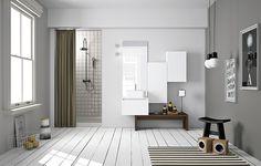 Mobili bagno stile nordico, Arredo bagno di servizio