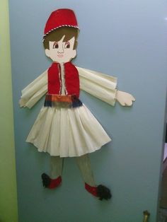 τσολιας 25 March, Crafts For Kids, Diy Crafts, Elf On The Shelf, 1 Decembrie, Holiday Decor, Kindergarten, School, Home Decor
