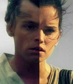 Luke and Rey comparison.