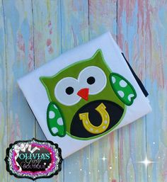 St. Patricks Day Owl with Horseshoe - LSS
