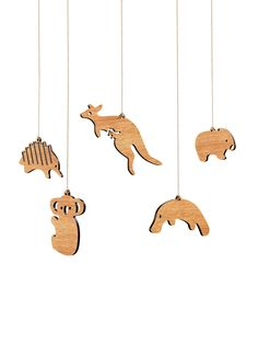 australian animal hanging decorations byrne woodware aussie christmas australian christmas summer christmas - Animal Christmas Decorations