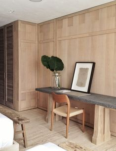 natural wood in office