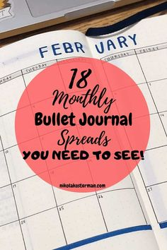 18 Monthly Bullet Journal Spreads for the entire year! - Sometimes we all hit a mental block that really makes us stumble when we are trying to do even the simplest of things. This post will inspire your creative juices and help you get back into the full swing of making your Bullet Journal helpful and productive and fun! Borders Bullet Journal, Bullet Journal Headers And Banners, Bullet Journal Gifts, Monthly Bullet Journal Layout, Bullet Journal Mood Tracker Ideas, December Bullet Journal, Bullet Journal For Beginners, Bullet Journal Quotes, Bullet Journal Printables