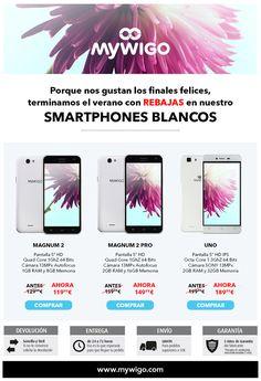 Comenzamos la temporada con ofertas especiales en los modelos White de nuestros smartphones ¡Gastos de envío gratis!