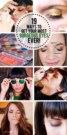 19 Ways to the Most Gorgeous eyes Ever   #howdoesshe #eyes #eyemakeup #makeuptips #eyemakeuptips #tipsforeyes howdoesshe.com
