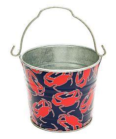 Nauti Tide Midi Bucket by The Macbeth Collection Kids Art Area, Nautical Design, Ocean Themes, Galvanized Metal, Bucket, Crabs, Collection, Sea, Gift Ideas