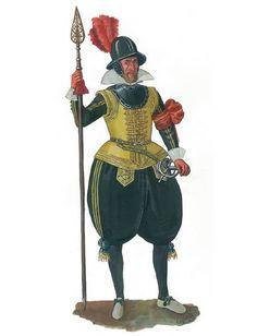Sergey I. Shamenkov - Oficial de infantería sueca, c 1600-1605
