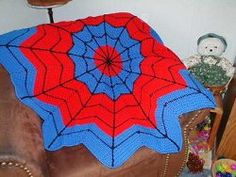 Whether you make it for your little son or nephew or a full-grown man, this #Spiderman Afghan is one free #crochet afghan pattern you can't pass up.