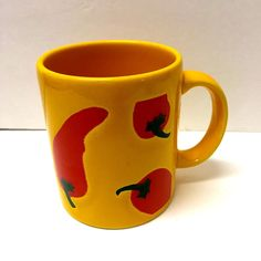 WAECHTERSBACH Spain Yellow Red Chili Jalapeno Pepper Coffee Mug  #WAECHTERSBACHSpain