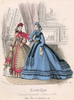 February fashions, 1865 France, Cendrillon