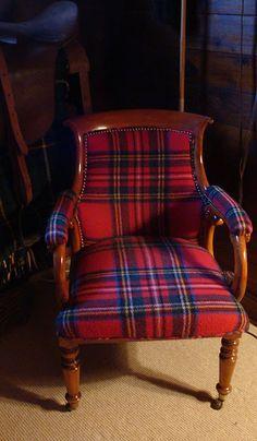 Plaid chair- equestrian feel