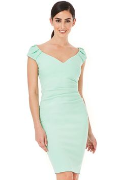 Heather pleated Midi παστελ μέντα φόρεμα Bodycon Dress, How To Wear, Dresses, Fashion, Vestidos, Moda, Body Con, Fashion Styles, Dress