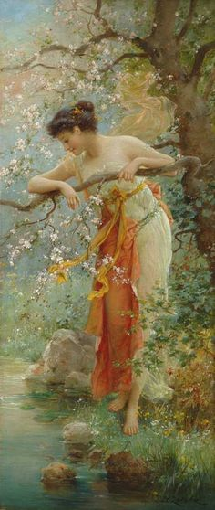 ✯  Spring Beauty .. By Hans Zatska ...1859-1949...✯