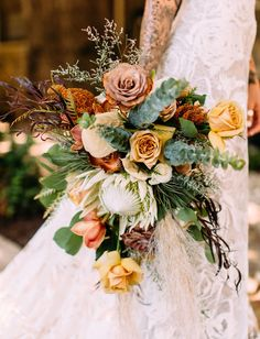 Points You Should Know Prior To Obtaining Bouquets Fall Orange Rose Bouquet-California Fall Wedding-On Green Wedding Shoes-Fall Wedding Inspiration With Rust Colored Bridesmaids Dresses, Lush Fall Florals, Copper Details, A Boho Wedding Dress And Boho Wedding Bouquet, Bridal Bouquet Fall, Bridesmaid Bouquet, Floral Wedding, Fall Wedding, Wedding Flowers, Green Wedding, Wedding Shoes, Wedding Dress