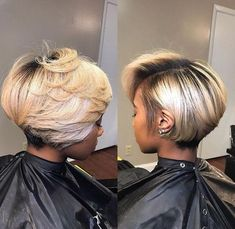 Bad bobs are always the move!lavishcurlsbo for Mink straight or Melanesian Blonde for ya sleek bob Easy Hairstyles For Medium Hair, Black Girls Hairstyles, Short Bob Hairstyles, Short Haircut, Layered Bob Hairstyles For Black Women, Short Hair Styles Easy, Medium Hair Styles, Natural Hair Styles, Short Cuts