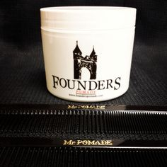 FOUNDERS pomade, a water based medium to strong hold from Connecticut and Mr. Pomade combs are NOW AVAILABLE at www.pomade.com