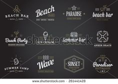 Set of Vector Beach Sea Bar Elements and Summer can be used as Logo or Icon in premium quality - stock vector