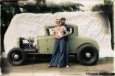 Portrait Hot Rod Hayride - René et sa femme Ford 30 coupé Flathead