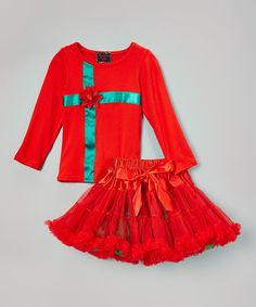 Love this Red & Green Top & Pettiskirt - Infant & Kids by Royal Gem on #zulily! #zulilyfinds